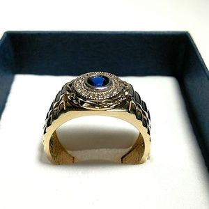 Jewelry - 14 K Gold Men's Ring two Tone 9'